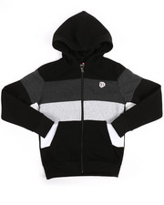 Sizes 8-20 - Big Kids - Color Block Fleece Full Zip Hoodie (8-20)-2254976