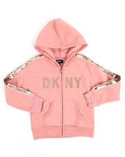DKNY Jeans - DKNY Sequin Zip Up Hoodie (4-6X)-2251344