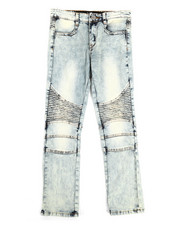 Sizes 8-20 - Big Kids - Sand Blasted Moto Jeans (8-20)-2253806