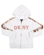 DKNY Jeans - DKNY Sequin Zip Up Hoodie (7-16)-2251349