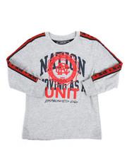 T-Shirts - Long Sleeve Tee w/Taping (4-7)-2251410