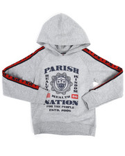 Hoodies - Pop Over Hoodie w/Taping (4-7)-2251441