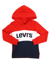 Levi's - Danny Long Sleeve Hooded Tee (2T-4T)-2256350
