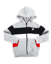 Hoodies - Color Block Fleece Full Zip Hoodie (4-7)-2254981