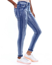Bottoms - Brushed Bleached Skinny Jean-2256813
