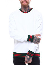 Jordan Craig - Contrast Stripe Raglan Crewneck Sweatshirt-2257604