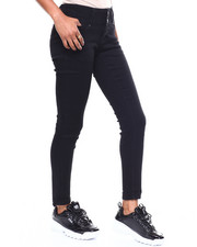 Bottoms - 3 Button Stacked Waist Skinny Jean-2256725