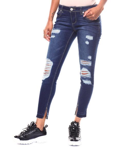 Boom Boom Jeans - Slit Hem Destructed jean