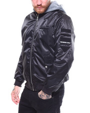 Members Only - FLIGHT SATIN TWILL JACKET W HOOD-2258326