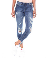 Boom Boom Jeans - Raw Edge Destructed Skinny Jean-2256544