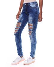 Jeans - Front + Back Destruction Skinny Jean-2256430