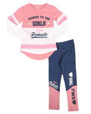 Sizes 7-20 - Big Kids - 2 Piece Athleisure Knit Tunic/Legging Set (7-16)-2255044