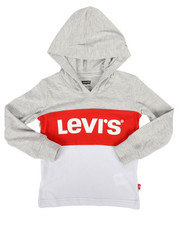 Levi's - Danny Long Sleeve Hooded Tee (2T-4T)-2256337