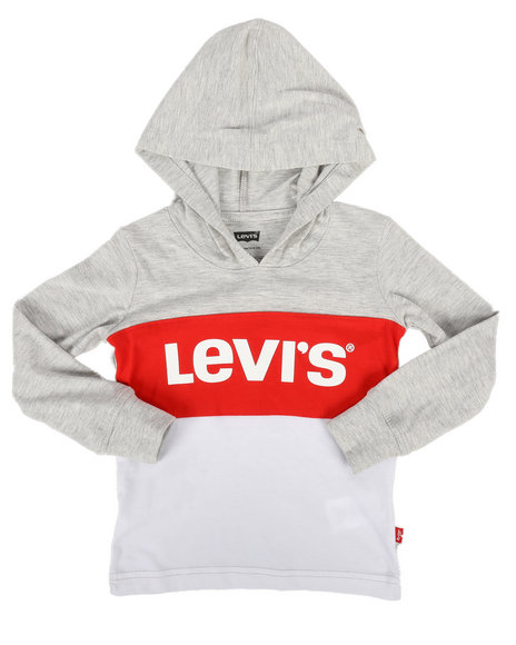 Levi's - Danny Long Sleeve Hooded Tee (2T-4T)
