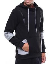 Hoodies - Fleece Hoody w Chest Zipper Detail-2258989