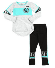 Sizes 7-20 - Big Kids - 2 Piece Athleisure Knit Tunic/Legging Set (7-16)-2255052