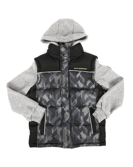 Weatherproof - Bubble Vest w/Sweater Sleeves (8-20)