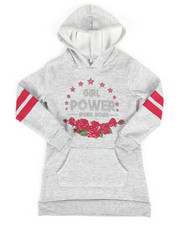 Dresses - Fleece Sweatshirt Dress w/Hood (4-6X)-2253732