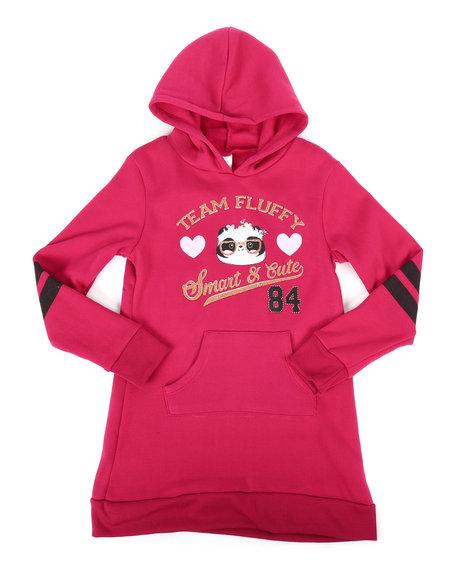 La Galleria - Fleece Sweatshirt Dress w/Hood (7-16)
