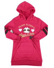 Dresses - Fleece Sweatshirt Dress w/Hood (4-6X)-2253748
