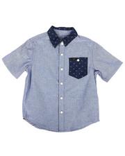 Tops - Short Sleeve Chambray Shirt (4-7)-2253711