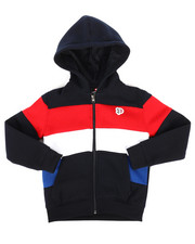 Hoodies - Color Block Fleece Full Zip Hoodie (4-7)-2255548