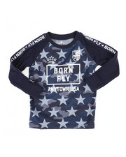 Born Fly - Long Sleeve All Over Printed Tee (2T-4T)-2258750