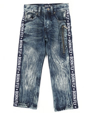 Jeans - Washed Denim Jeans w/Taping Detail (4-7)-2258702
