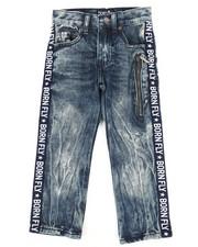 Boys - Washed Denim Jeans w/Taping Detail (4-7)-2258702