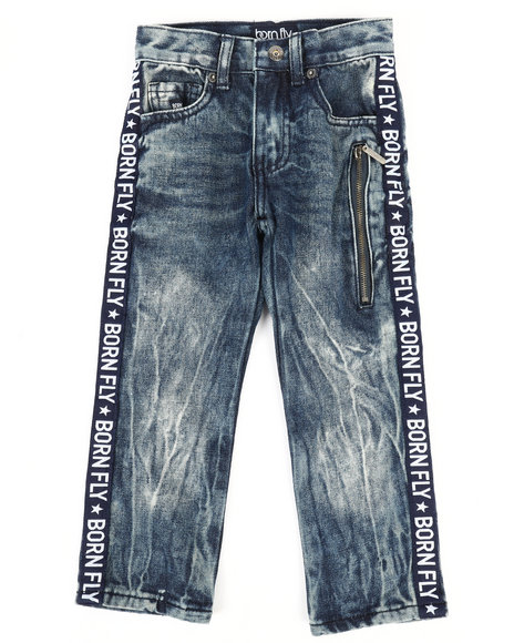 Born Fly - Washed Denim Jeans w/Taping Detail (4-7)
