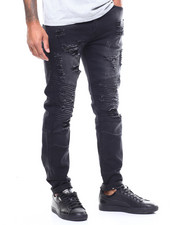Cyber Monday Deals - Distressed Moto Jean w Ripped Knee-2259283