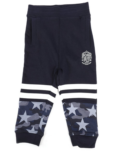 Born Fly - Pieced Loopback Sweatpants (2T-4T)