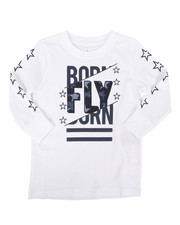 Born Fly - Long Sleeve Screen Print Tee (2T-4T)-2258715