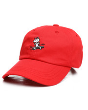 Dad Hats - Peanuts Snoopy Sk8 6 Panel Curved Visor Hat-2258123