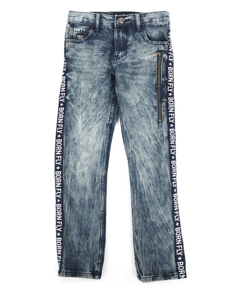 Born Fly - Washed Denim Jeans w/Taping Detail (8-20)