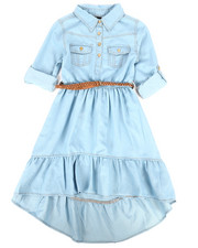 Dollhouse - Light Denim Dress (7-16)-2257991