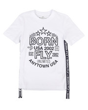 Born Fly - Graphic Tee w/Side Taping (8-20)-2258745