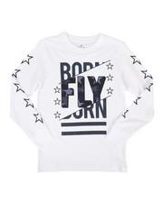 Born Fly - Long Sleeve Screen Print Tee (8-20)-2258724