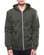 Hoodies - Fleece Full Zip Hooded Sweatshirt-2260106