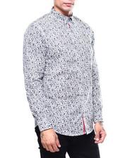 Shirts - FLORAL SKULL LS WOVEN SHIRT-2259789