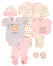 Infant & Newborn - 7 Piece Unbearably Huggable Print Gift Set (Infant)-2258616