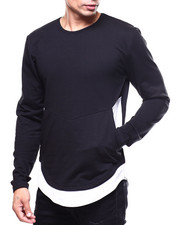 Shirts - Two Tone French Terry Zipper Pullover-2259806