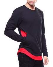 Shirts - Two Tone French Terry Zipper Pullover-2259794