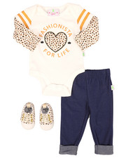 Infant & Newborn - 3 Piece Cheetah Knit Set (Infant)-2258540