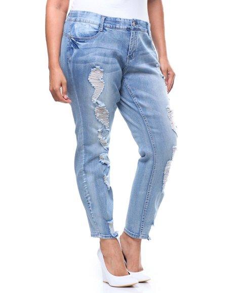 Fashion Lab - Tummy Toner Destructed Skinny Jean (Plus)