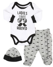 Duck Duck Goose - 3 Piece Moustache Knit Set (Infant)-2258449