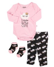 Infant & Newborn - 3 Piece Woke Up Knit Set (Infant)-2258572