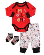Duck Duck Goose - 3 Piece Wild Arrow Knit Set (Infant)-2258385