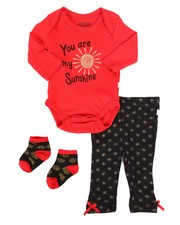 Infant & Newborn - 3 Piece Sunshine Print Knit Set (Infant)-2258564