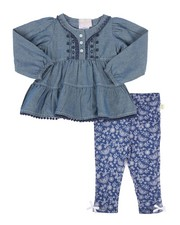 Infant & Newborn - Chambray & Legging Set (2T-4T)-2258628